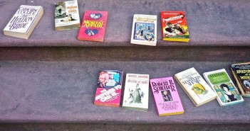 books on the stoop