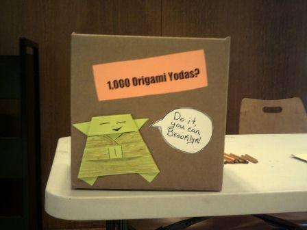 Origami Yodas via Central Library on FB