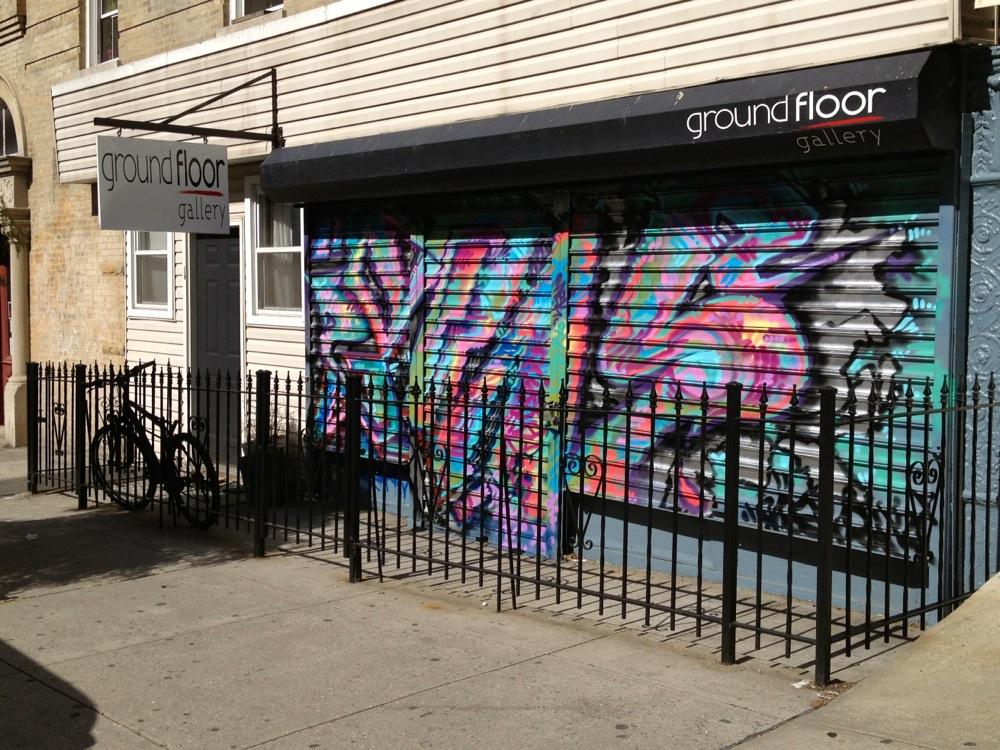 Ground Floor Gallery, gate by The Reskew