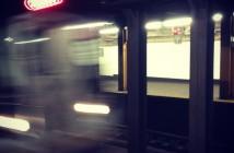 Q train at 7th Ave subway station