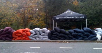 Textile recycling at Grand Army Plaza Greenmarket by Wearable Collections on FB