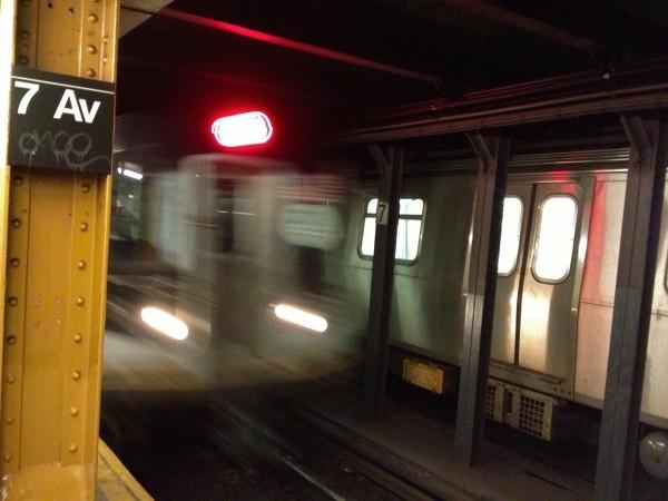 Subway: Q Train at 7th Avenue