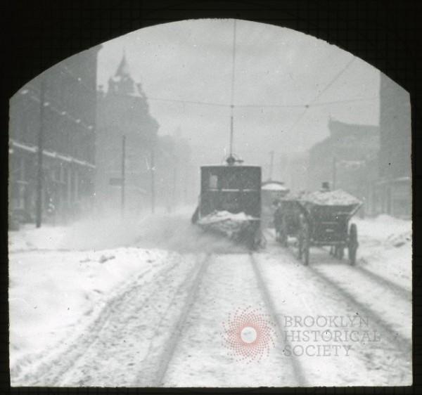Snow Plow & Buggy via Brooklyn Visual Heritage