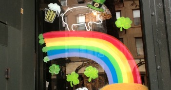 St Patrick's Day Window at Pork Slope