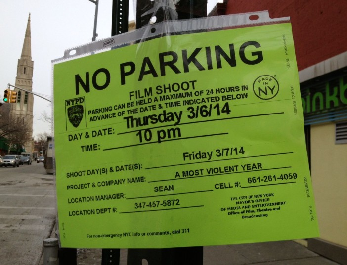 Filming on 7th Avenue: A Most Violent Year