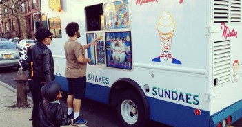 Mister Softee Ice Cream Truck in Spring