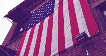 American Flag on 4th Avenue