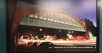 4th Av-9th St subway station renovation poster