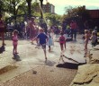 Sprinklers at JJ Byrne Playground