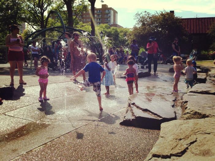 Sprinklers at JJ Byrne Playground