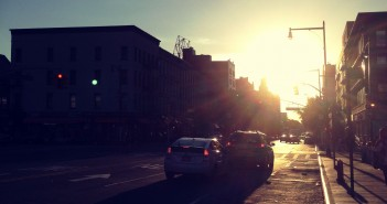 Park Slope Streets: Sun Setting Over Atlantic Avenue