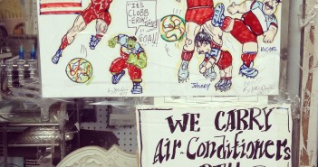 World Cup & Air Conditioning Signs at R&A Housewares